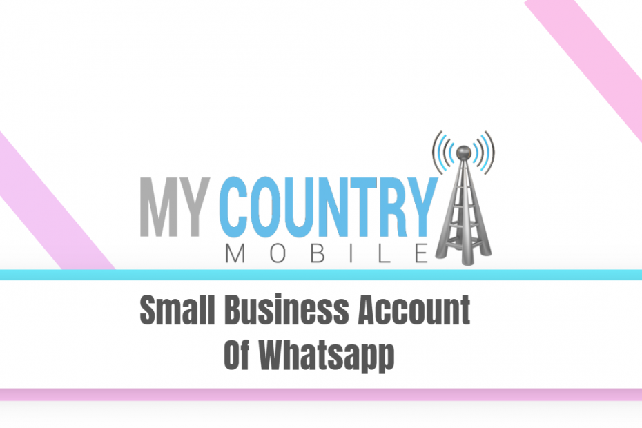 Small Businees Account Of Whatsapp - My Country Mobile